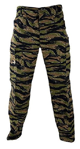 Melonie clothing Tiger Stripe BDU Pants Military Army Cargo Fatigue Trousers Tactical Camouflage