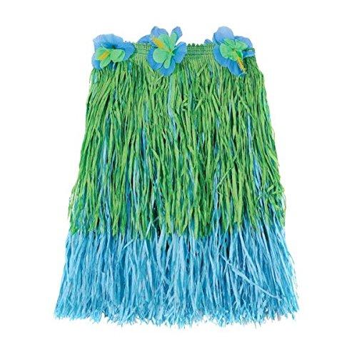 [Amscan Hawaiian Summer Luau Party Two-Tone Adult Hula Skirt, Blue/Green, 23.4 x 7.4