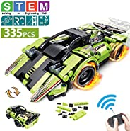 STEM Building Toys for Kids with 2-in-1 Remote Control Racer | Snap Together Engineering Kits Early Learning R
