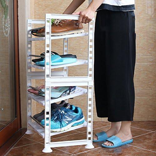 WENZHE シューズラック 靴箱スリッパ アセンブリ ストレージ プラスチック、 白、 48.5 * 30 * 80cm シューズホルダー