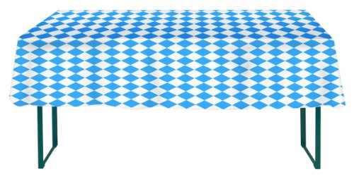Oktoberfest Haus Oktoberfest Bavarian Flag Check Table Cover 54 x 108 Inches (Oktoberfest Table Decorations)
