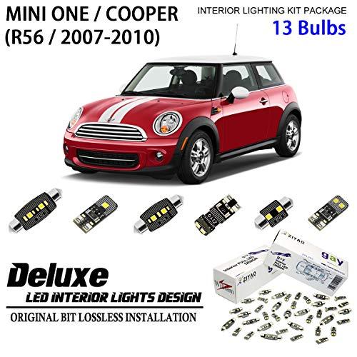 (ZIYO ZPL7560 - (13 Bulbs) Deluxe LED Interior Light Kit 6000K Xenon White Dome Light Bulbs Replacement Upgrade for (R56) 2007-2010 Mini ONE/Cooper )