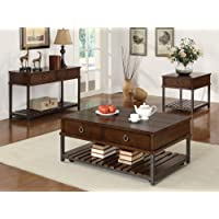 Coaster Home Furnishings Casual Coffee Table, Tobacco