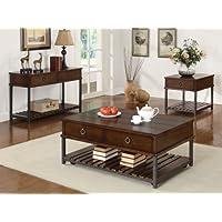 Coaster Home Furnishings Casual Coffee Table, Tobacco
