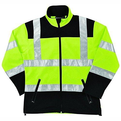 ERB Safety Products 62201 W651 Class 2 Soft Shell Women's Jacket 3X-Large Hi Viz Black/Lime [並行輸入品]  B07N85RCVV