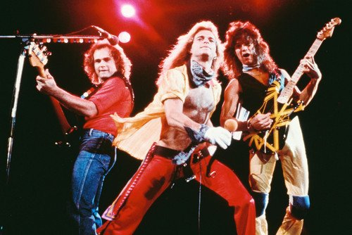 Van Halen David Lee Roth Barechested Eddie Iconic Concert Guitars 24x36 Poster