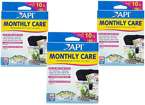 API MONTHLY CARE All-In-One Aquarium Care Additive Pack
