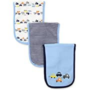 Gerber Baby Boys 3 Pack Terry Burp Cloth, Cars, One Size