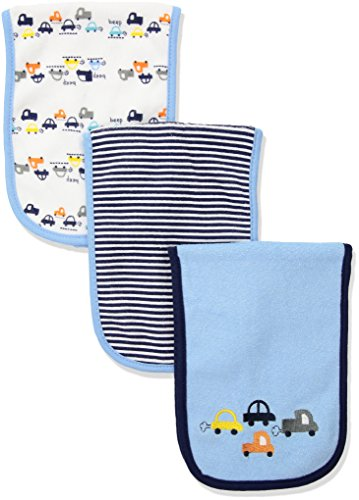 Gerber Baby Boys 3 Pack Terry Burp Cloth, Cars, One Size from Gerber