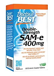 Doctor\'s Best SAM-e 400, 60-Count (Packaging May Vary)