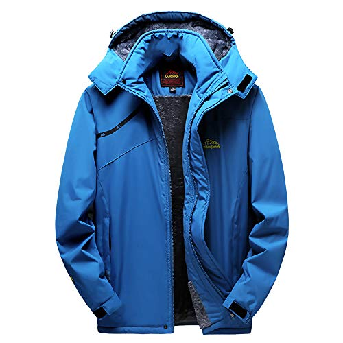 Realdo Couple Outdoor Jacket, Mens Womens Thin Thick Hoodie Waterproof Breathable Assault ()