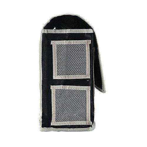 VOIMAKAS Bedside Hanging Storage Bag, 6 Pockets Oxford Cloth Organizer Bag for Book Magazine Phone Tissue TV Remote Accessory - Black by VOIMAKAS (Image #7)