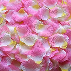Gresorth Pink White Orange Artificial Silk Rose Petals Fake Petal Flower Wedding Party Decoration - 5000 PCS 15