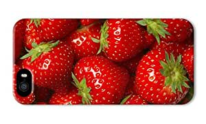 Do It Yourself DIY iphone 5S cool cover Many strawberries red fruit delicious PC 3D for Apple iPhone 5/5S