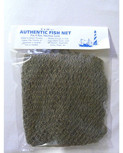 Authentic Nautical Fish Net - Decorative Use 5' X 10' New]()