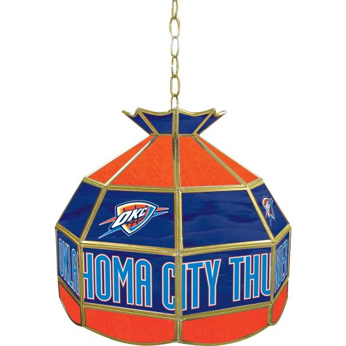 NBA Oklahoma City Thunder Tiffany Gameroom Lamp, 16'' by Trademark Gameroom