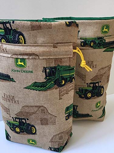 Amazon Birthday Party Gift Bag In Tractors Print Fabric