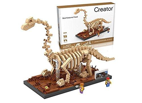 Brachiosaurus Dinosaur Fossils Skeletons Jurassic Park Parent-child Games Building Blocks Children's Educational Toys Dinosaur Series