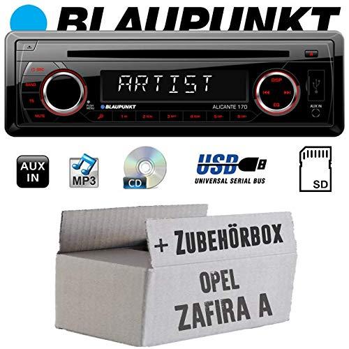 Einbauset f/ür Opel Zafira A Autoradio Radio Blaupunkt Alicante 170 CD//MP3//USB Einbauzubeh/ör JUST SOUND best choice for caraudio