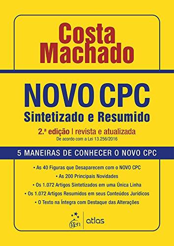 Novo CPC - Sintetizado e Resumido