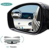 Kyпить Blind Spot Mirror, HD Glass Convex Rear View Mirror with 360° Rotatable + 30° Sway, Adjustable Wide Angle Rear View for All Cars, Pack of 2 на Amazon.com