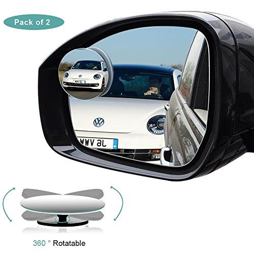 Abs Sensor Bracket (Blind Spot Mirror, HD Glass Convex Rear View Mirror with 360° Rotatable + 30° Sway, Adjustable Wide Angle Rear View for All Cars, Pack of 2)
