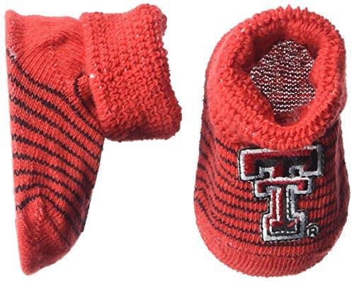 (Two Feet Ahead NCAA Texas Tech Red Raiders Infant Stripe Gift Box Booties, New Born,)