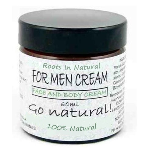 Natural Face Cream Moisturiser For Men: Luxury face treatment for smooth, hydrated, younger looking skin, All skin types 60ml