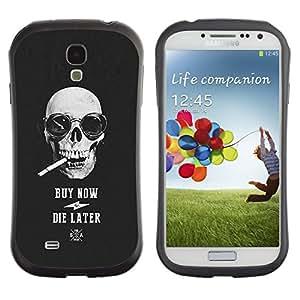 Suave TPU GEL Carcasa Funda Silicona Blando Estuche Caso de protección (para) Samsung Galaxy S4 I9500 / CECELL Phone case / / Buy Now Die Later Skull Cool Shopping /