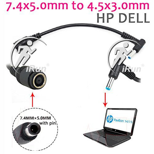 DC Power Charger Converter Adapter Cable 7.4mm 5.0mm To 4.5mm 3.0mm For HP Dell