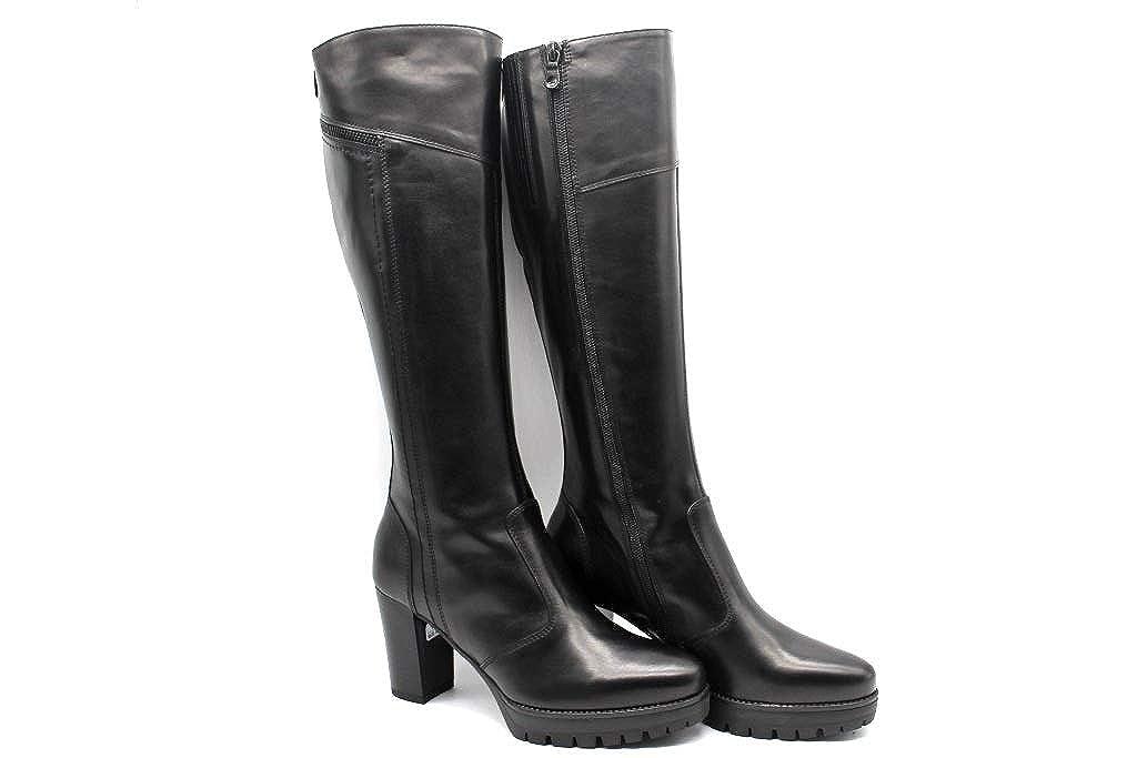 NG A807082D schwarz Stiefel up Knie Frau mit Plateau
