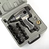 """17pc 1/2"""" Air Impact Wrench Gun Kit W/ Sockets And Case Metric New Free Shiping!"""