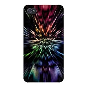 Apple Iphone Custom Case 5c Snap on - Colorful Warp Speed Tunnel on Black