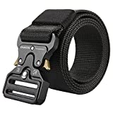 Men's Tactical Belt Heavy Duty Webbing Belt