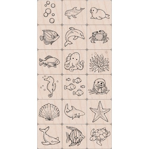 Hero Arts Ink and Stamp Set, Sea Life