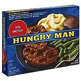 HUNGRY MAN TV SALISBURY STEAK DINNER 1 LB PACK OF 3