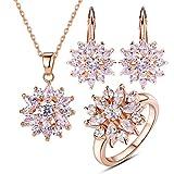 Bamoer Rose Gold Jewelery Set Snowflake Wedding B - Best Reviews Guide