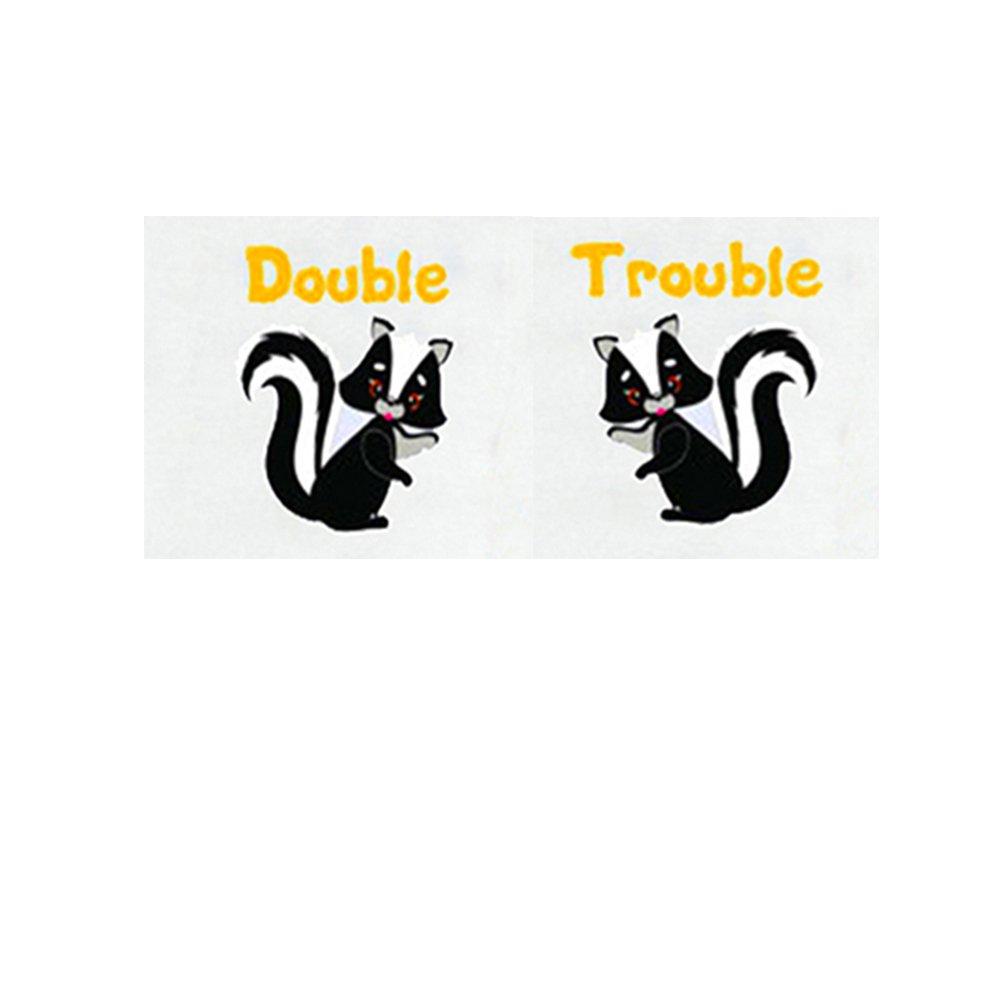 YSCULBUTOL Double Trouble Twin Bay Boy Girl Bodysuits Includes 2Bodysuits