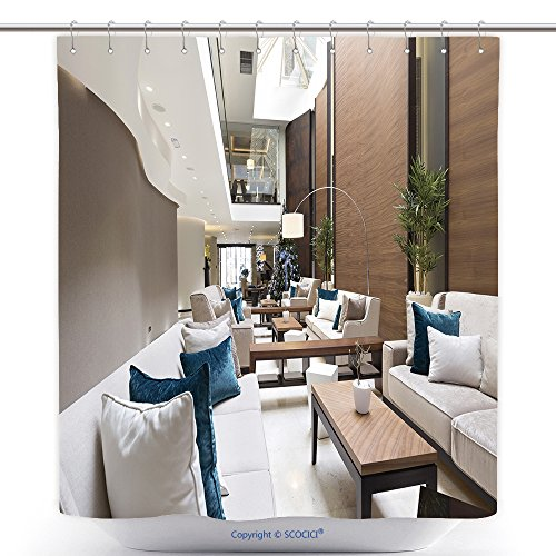 Lobby Boy Costume For Sale (Stylish Shower Curtains Hotel Lobby Cafe Interior 239485759 Polyester Bathroom Shower Curtain Set With Hooks)