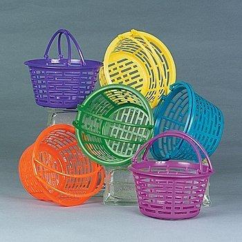 (Bright Round Plastic Baskets, 1)