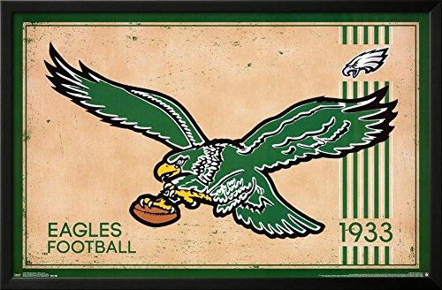 Philadelphia Eagles - Retro Logo 14 Lamina Framed Poster 36 x 24in