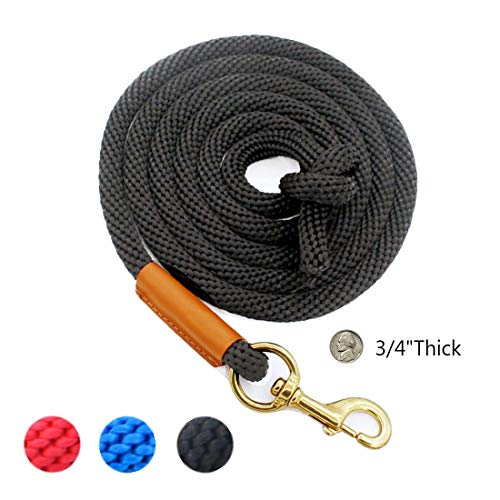 - lynxking Horse Lead Rope Strong Braided Rope Leash Heavy Duty Roping Cord for Horses (Black)