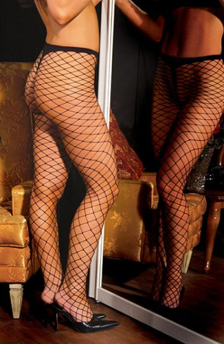 Spandex Diamond Net Pantyhose Costume Accessory