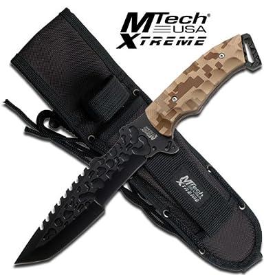 "MTech Extreme ""Contender"" Fixed Blade Knife - desert camo"