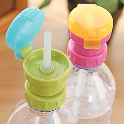 LILACORP NEW Portable Spill Proof Juice Soda Water Bottle Twist Cover Cap With straw Safe Drink Straw Sippy Cap Feeding for Kids