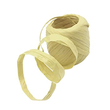 Baoblaze Raffia Paper Ribbon 21 Colors 20m Decorating Flowers Gifts Wrapping Crafts Scrapbooking Card Making DIY Decoration Paper Twine Cake Package Accessories black