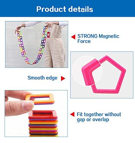X-DNENG Creative Magnetic Building Blocks for Boys and Girls Magnetic Tiles Building Set STEM Toys Preschool Educational Construction Kit Magnet Stacking Toys for Kids Toddlers Children,113 Pcs