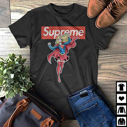 7407ad861 Supreme vs Gucci Supergirl Fan Gift T-Shirt: Handmade - Amazon.com