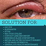 Eyelid and Eyelash Cleanser by Heyedrate, Soothes Blepharitis, Dry Eyes, Styes, and Meibomian Gland Dysfunction with Pure Hypochlorous Acid (1-Month Supply)