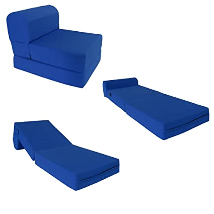 Royal Blue Sleeper Chair Folding Foam Bed Sized 6u0026quot; Thick X 32u0026quot; Wide X  sc 1 st  Amazon.com & Amazon.com: Royal Blue Sleeper Chair Folding Foam Bed Sized 6